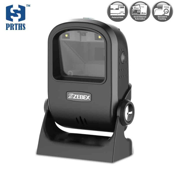 Quality USB 2D desktop barcode reader 617nm LED laser scanner support PDF417 QR code reading from display of computer and phone