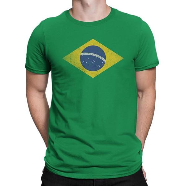 Подробности zu Nyc завод Бразилия флаг Tee мужская Tee зеленая футболка футболку Бразилия-флаг-мужчины смешные бесплатная доставка унисекс повседневная tee подарок