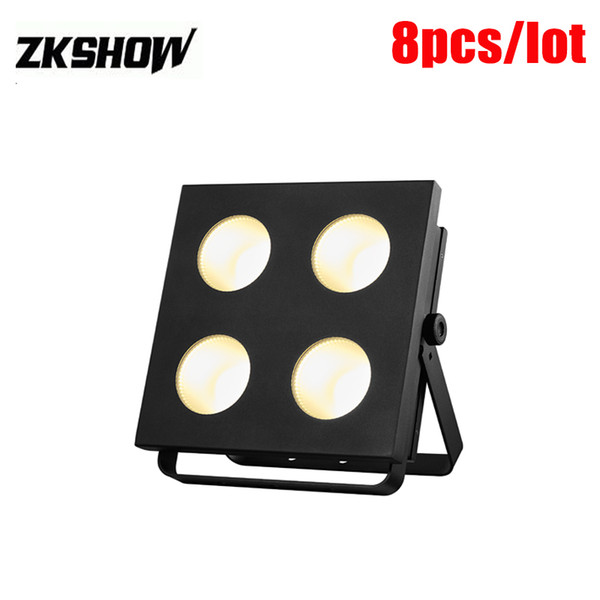 80% Discount 4*100W RGB LED Blinder Matrix COB Light Luces Discoteca DMX DJ Disco Party Wedding Audience Pro Stage Lighting Effect Projector