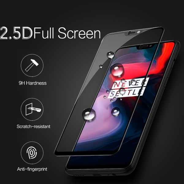 TCICPC Tempered glass for Oneplus 6 One plus 6 glass Screen Protector 9H Nano Coating full Protective Film for One plus