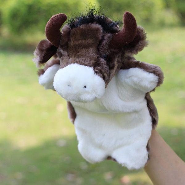 Los niños marioneta de mano grandes animales pequeños toros Los juguetes de marionetas de felpa para bebés cuentan juguetes de historia