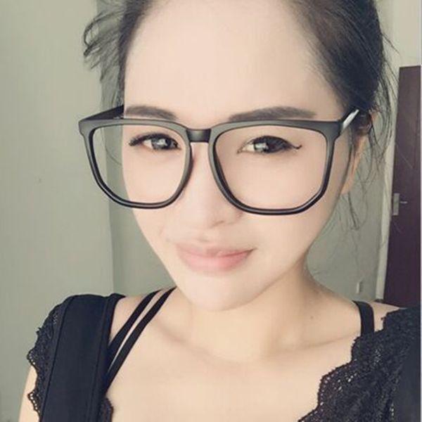 Vazrobe Oversize Glasses Donna Uomo Nero Montature per occhiali Quadrato Ampia Faccia Moda Grado Occhiali da vista Nerd Miopia