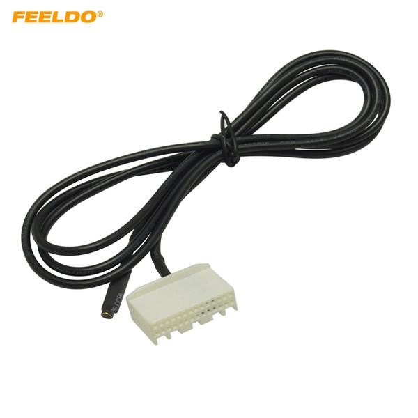 FEELDO 1.5 M Araba Ses Video CD DVD Değiştirici Micphone MIC Toyota MIC için MIC Adaptörü Tel 28Pin Liman 2700 # 5669