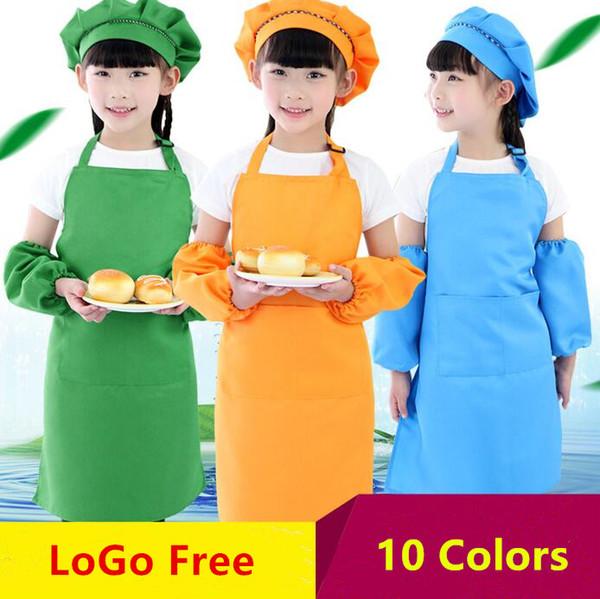 10 Renkler Çocuk Çocuklar Önlük Cep Mutfak Pişirme Pişirme Boyama Pişirme Sanat Önlüğü Çocuk Düz Önlük Mutfak Yemek Temizlik Koruma