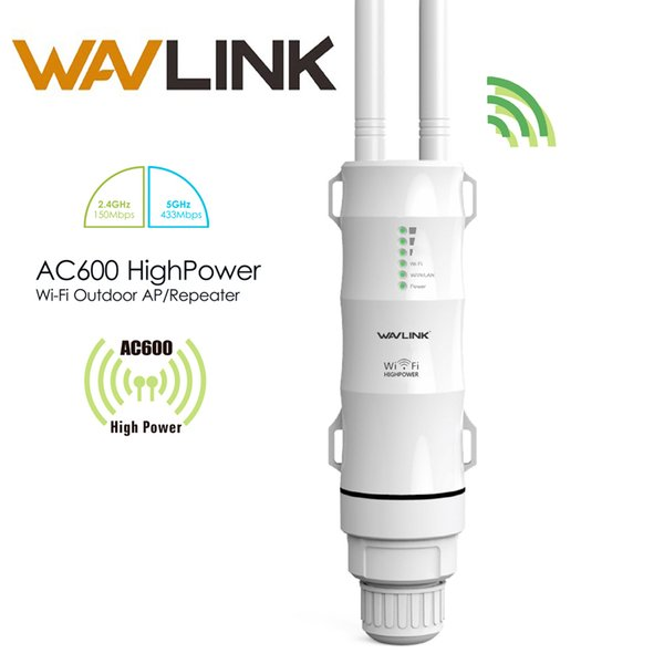 Wavlink AC600 27dBm High Power Outdoor Wifi  2.4G150Mbps + 5GHz 433Mbps Wireless Wifi Router with AP WISP Extender