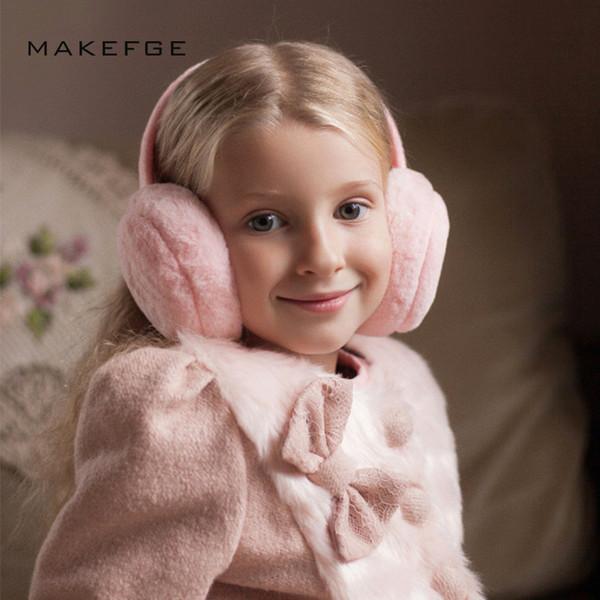 Осень и зима детские сплошной цвет наушники мальчиков и девочек наушники теплые удобные лыжные наушники мода