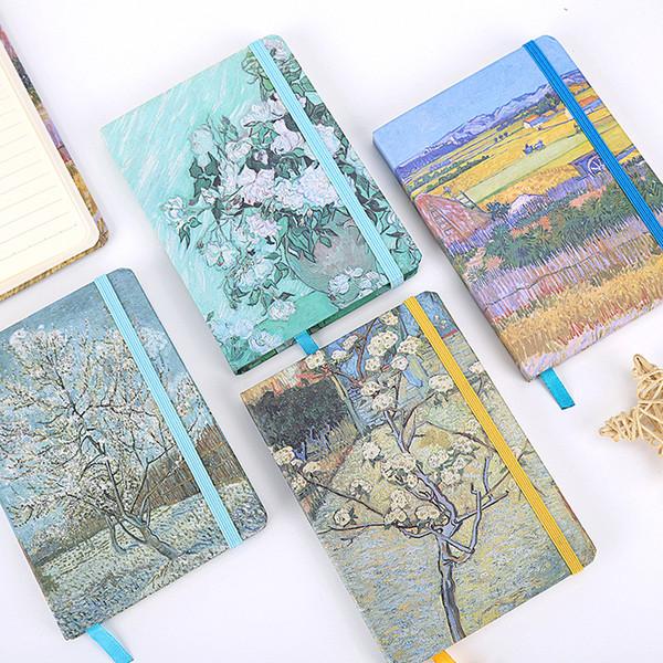 Vintage Van Gogh Bloc-notes Bloc-notes Agenda créatif Agenda Sketchbook Ordre du jour Filofax Voyageurs Journal Journal Cahiers