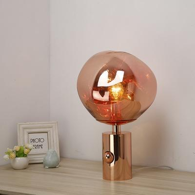 Modern table lamp light LED irregular desk light for foyer living room bedroom hotel bedside table Lamp