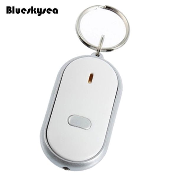 Blueskysea LED Light Torch Remote Sound Control Lost Key Finder Locator Keychain White Keyring Multi-function tracker