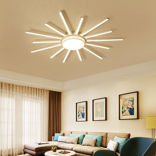 2019 The Latest Living Room Bedroom Led Ceiling Lamp Simple Modern Lamps  Super Bright Atmosphere Home High End Energy Saving Lighting From Alluring,  ...