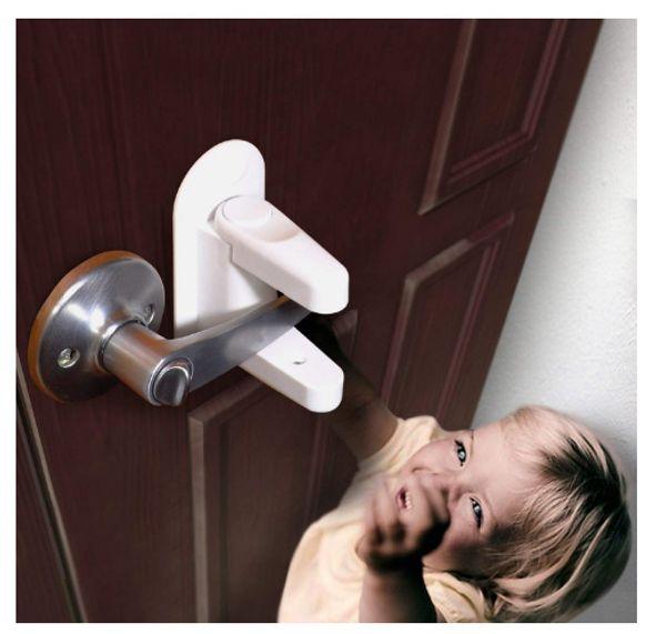 Children Safety Lock Door lever baby Door Handle Locks kids Safety supplies 2 pcs/set Door Locks GGA1005