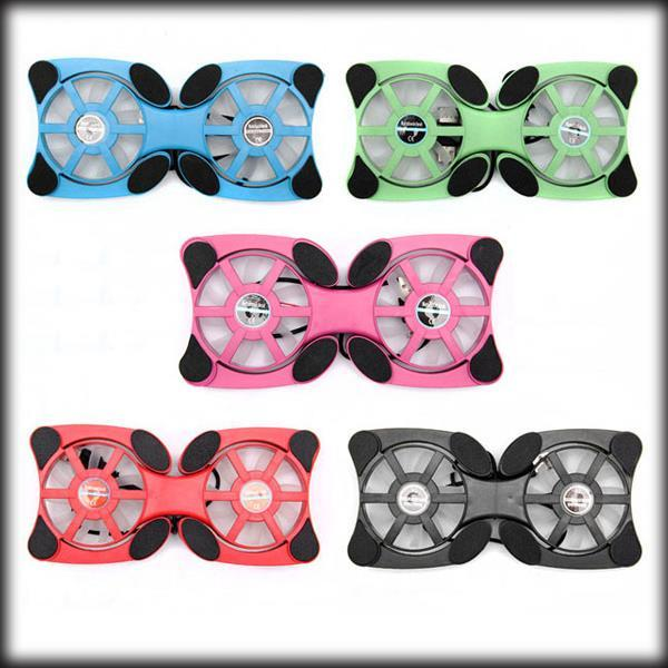 by dhl or ems 50 pieces USB Mini Octopus Laptop Notebook Fan Cooler Cooling Pad Folding Coller Fan