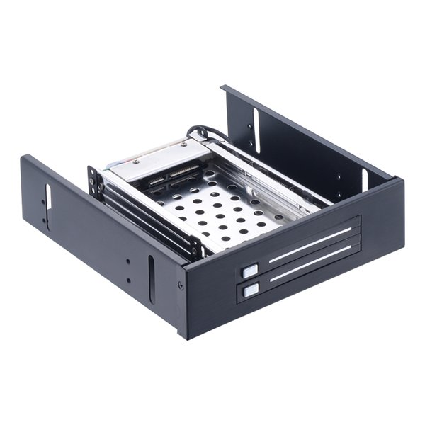 Uneatop ST5522 Dual bay 2.5in hard drive case optical drive hdd docking SATA mobile rack for hot swap 6Gbps