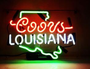 "Custom New Coors Light LOUISIANA Real Glass Neon Sign light Beer Bar Sign Send need photo 19x15"""