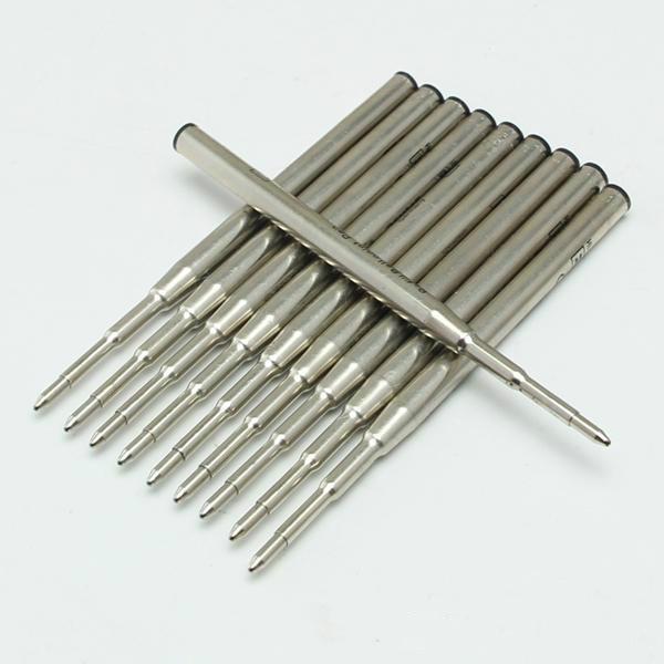 Heißer Verkauf-10 Stücke Gute Qualität Schwarz / Blau Tinte Internationale Standard Nachfüllung Für Kugelschreiber Glatte Schreiben MB Stift