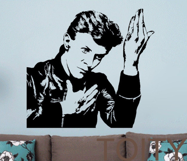 David Bowie Vinyl Art Sticker Pop Music Wall Decal Celebrity Art Decor Bar Studio Club Restaurant Home Room Mural