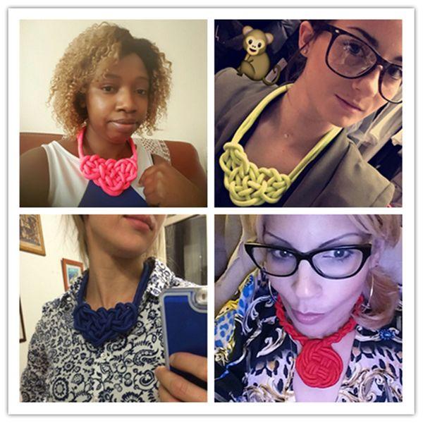 Handmade Cotton Necklace Chockers Shourouk Statement Necklace Fashion Jewelry Necklaces&Pendants Christmas Gifts Ras De Cou