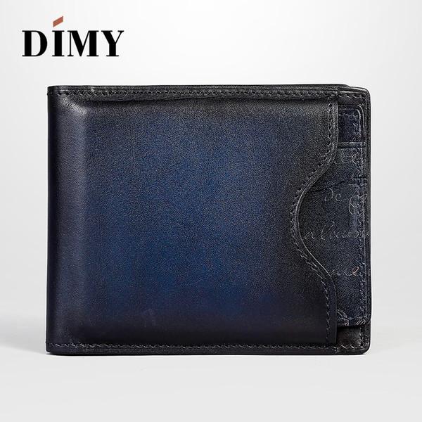 Dimy Mode 2018 Männer Geldbörsen Männliche Echtes Leder Neues Design Dollar Dünne Halter mit Münztüte Reißverschluss Kleine Geldbörsen