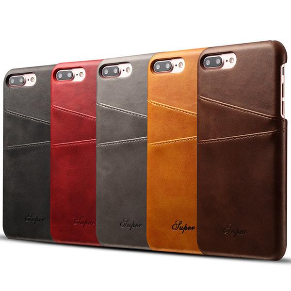 Smartphone Hülle Gestalten Luxus Pu Leder Mappen Kasten Für Iphone 7 Fall Plus Iphone 6 Fall 6s Plus Visitenkarte Halter Rückseitige Abdeckungs