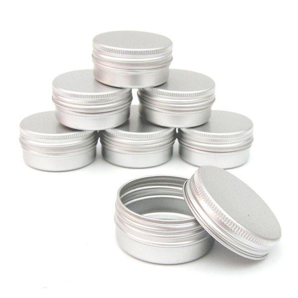 12pcs/set 60ml Tin Box Screw Thread Small Round Lip Metal Box 68x25mm Cosmetics Cream for Travel Portable Container