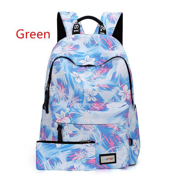 New Outdoor Sports Waterproof Breathable Bag Casual Female Fashion Junior High School Student Camping Hiking Zipper Backpack