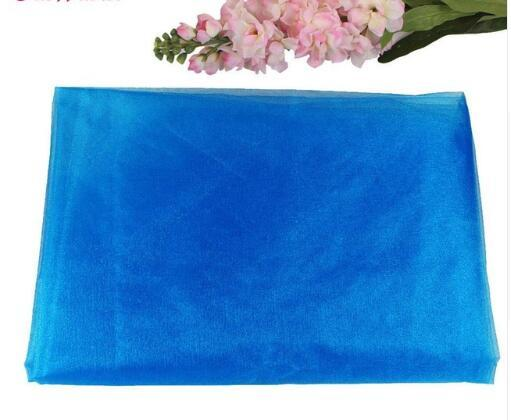 10m Organza Sheer Organza Fabric Swags For Romantic Wedding Party Table Chair Decoration Many Color Available