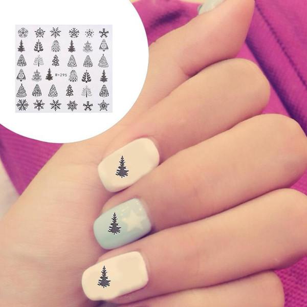 5 Blatt Weihnachten Schneeflocke Nagelfolien Weiß Schnee Weihnachten Design Nail Art Transferfolie Transfer Sticker Papier