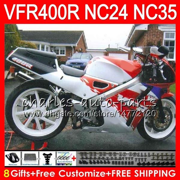 RVF400R For HONDA white red top VFR400 R NC24 V4 VFR400R 87 88 94 95 96 81HM45 RVF VFR 400 R NC35 VFR 400R 1987 1988 1994 1995 1996 Fairings
