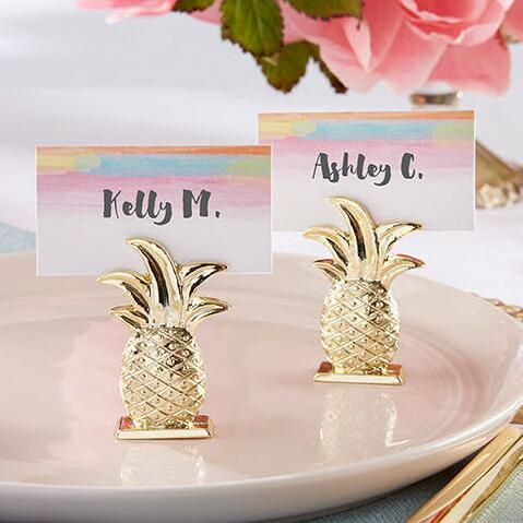 30pcs/Lot+Wedding Gift Gold Pineapple Place Card Holders Bridal Shower Favor Summer Wedding Favors+FREE SHIPPING