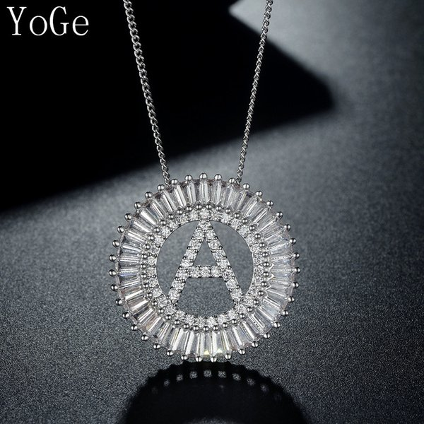 YoGe P8338 Fashion New Design stylish AAA cubic zirconia cute letter shaped pendant necklace ,women's accessaries HOT