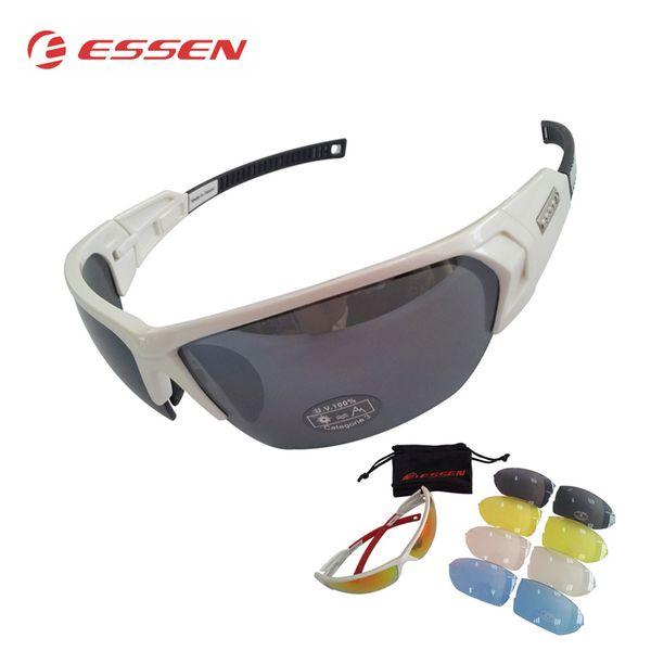 ESSEN Polarized Cycling Glasses Men Sports Sunglasses Road MTB Mountain Bike Bicycle Riding Protection Goggles Eyewear 5 Lens