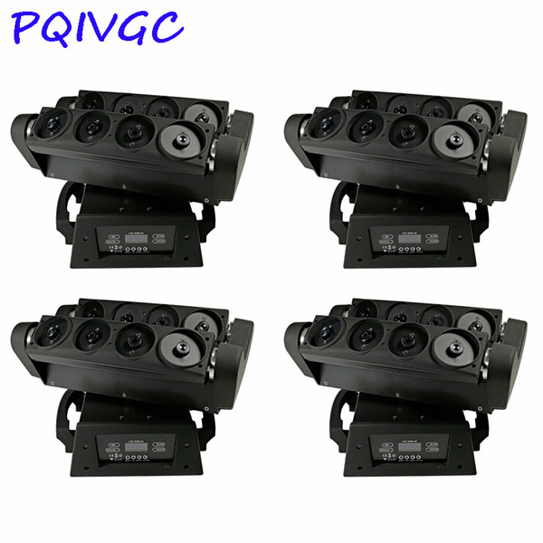 4PCS/8 Eyes Spider Laser Beam Light RGB Professional Moving Head Light DMX512 Control DJ Disco Stage Equipment