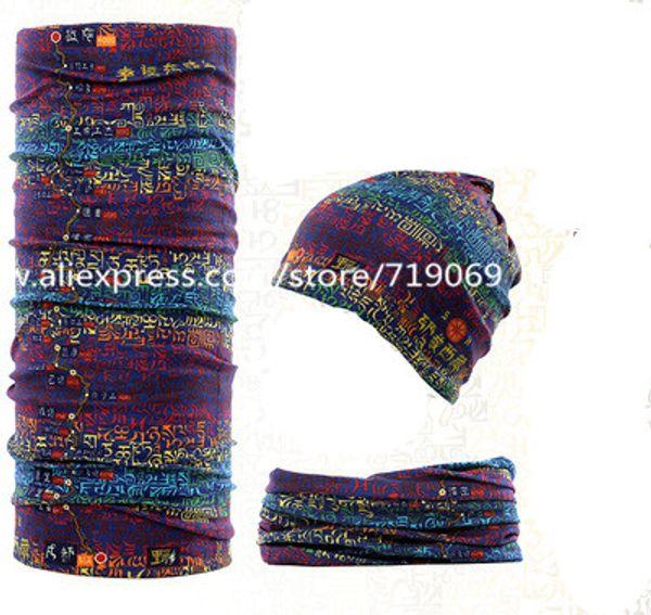 12pcs / lot 301-400 écharpe transparente bandana hijab couvre-chefs masque facial cou écran solaire silencieux unisexe équitation foulards tube
