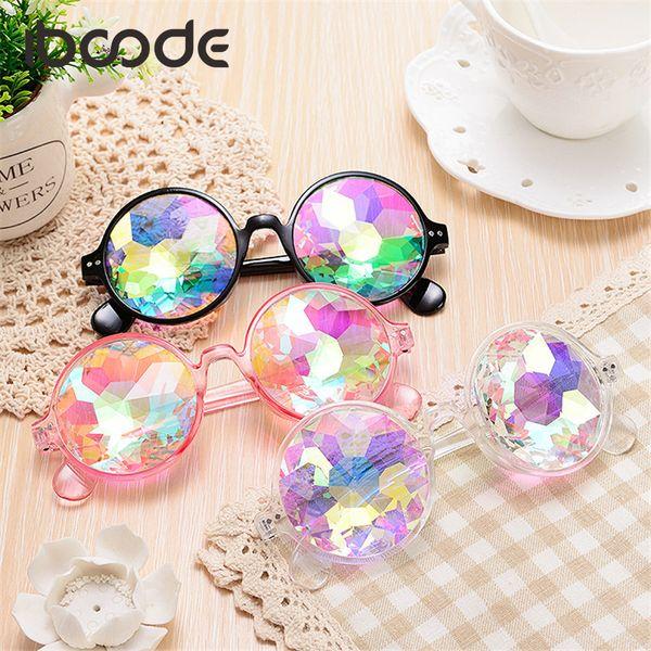 iboode Kaleidoscope Sunglasses Round Funny Retro Party Cosplay Photo Prop Sunglasses Magic Mosaic Women Men Brand Designer