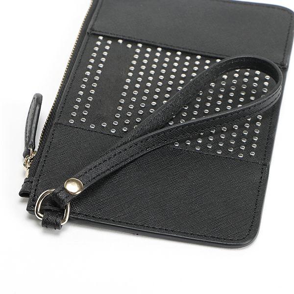 best selling Luxury Designer MICHAEL lady Cross Pattern Rivets Top Handles handbags Handle Euramerican Zipper Bag Purse Bags female cellphone pouch