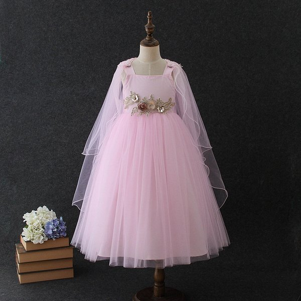 4 to 12 years Summer girls tutu dresses, festive celebration flowers clothes, kids & teenager boutique tulle clothing, R1AA806DS-26