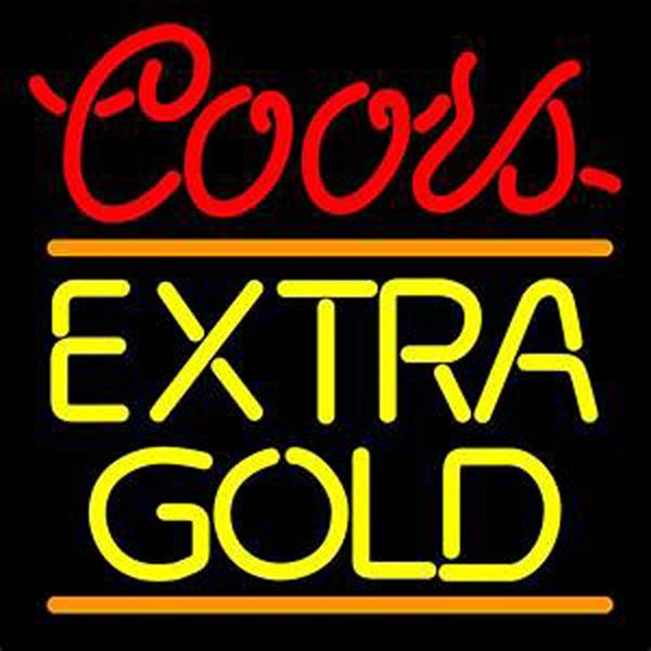 """Coors Extra Gold Beer Neon Sign Disco KTV Bar Club PUB Display Advertisement Real Glass Tube Handcrafted Neon Signs 16""""X16"""""""