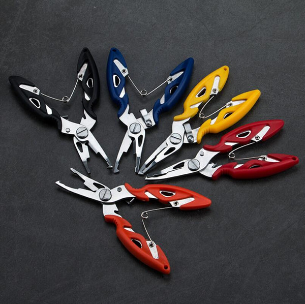 Outdoor Fishing Tools Stainless Steel Fishing Pliers Scissors Line Cutter Braid Cutter Hook Removers Tackle Carp Lure Fishing Accessories