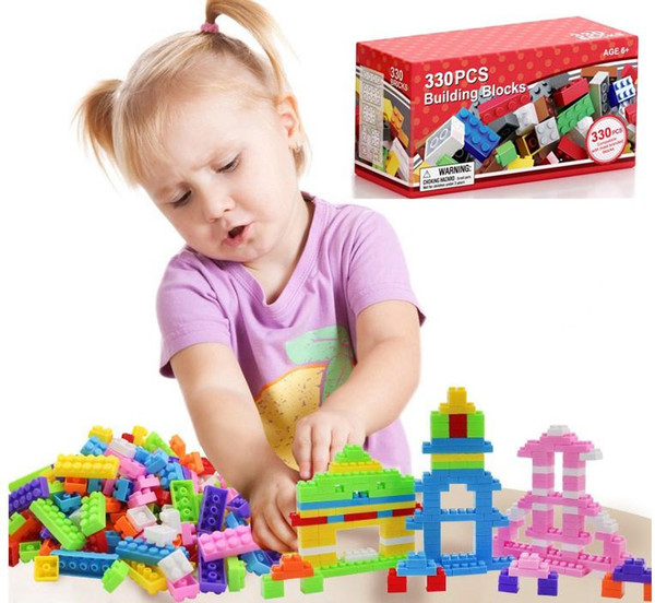 330PCS Australia Rainbow Building Blocks DIY Small Particles Assembled Science and Education Children Play Block Puzzle Kids Toys