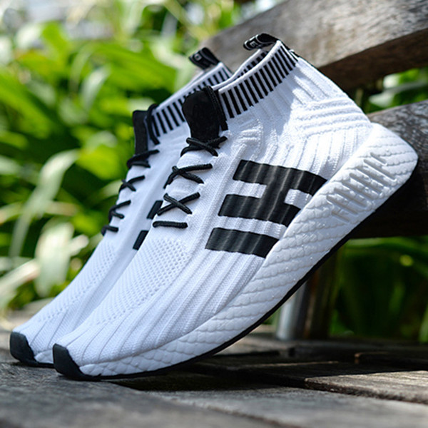 2018 Coppa del Mondo NMD Runner R2 Mesh Triple Bianco Nero Uomo Donna Running Shoes Sneakers NMD Runners Primeknit Mens Trainers 5-11