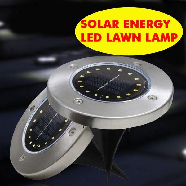 8 LED 16LED 4LED lámpara de decoración de patio solar a prueba de agua alto brillo exterior césped panel cargado solar luz de ahorro de energía