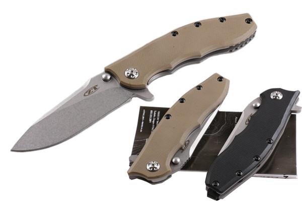 2 Estilos Zero Tolerância ZT0562 Flipper Assistida Abertura Ao Ar Livre Tático Faca Rolamento G10 Handle Folding Pocket Caça Dom Facas P284R