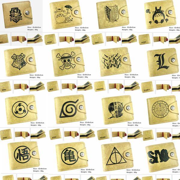 Harry Potter Hufflepuff Geldbörse Slytherin Ravenclaw Geldbörse PU Leder braun Kreditkarte Brieftasche Gryffindor Geldscheinklammer Brieftasche GGA811