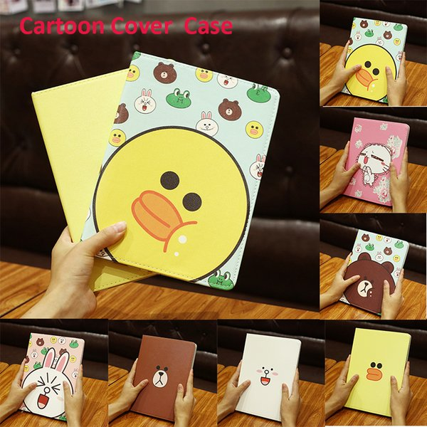 2018 Cute Little Animals Custodia in pelle di cartone animato per iPad Mini Cover Cover per Apple iPad Mini 1 Fit per iPad Mini 4 PCC074