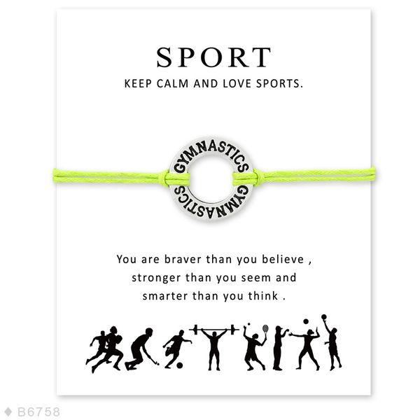 Neue i-Liebes-Gymnastik-Sportcharme Armbänder mit Kartenfrauen behalten Ruhe und lieben Sportwachsseil Armband für Männer Marke Designer Schmucksachen