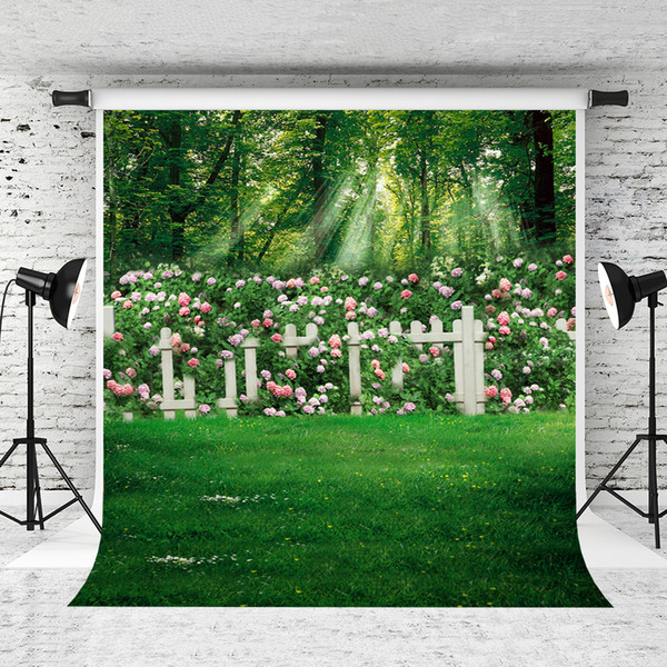 2019 Dream 5x7ft Spring Photography Backdrop Pink Flowers Garden