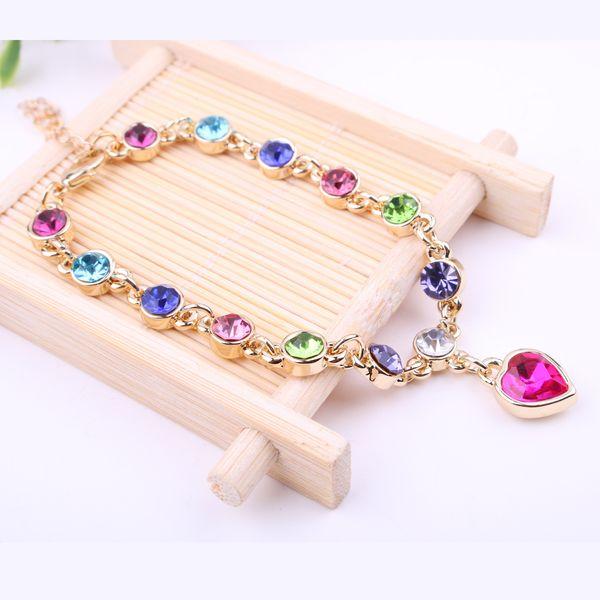 Swarovski elemento pulseira de cristal austríaco feminino versão coreana de jóias populares europeus e americanos hot sellers vendas diretas