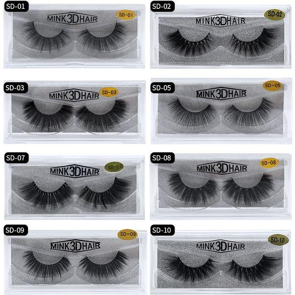 3D Nerz Wimpern Augen Make-up Nerz Falsche Wimpern Weiche Natürliche Dicke Gefälschte Wimpern 3D Wimpernverlängerung Beauty Tools 17 Styles 441