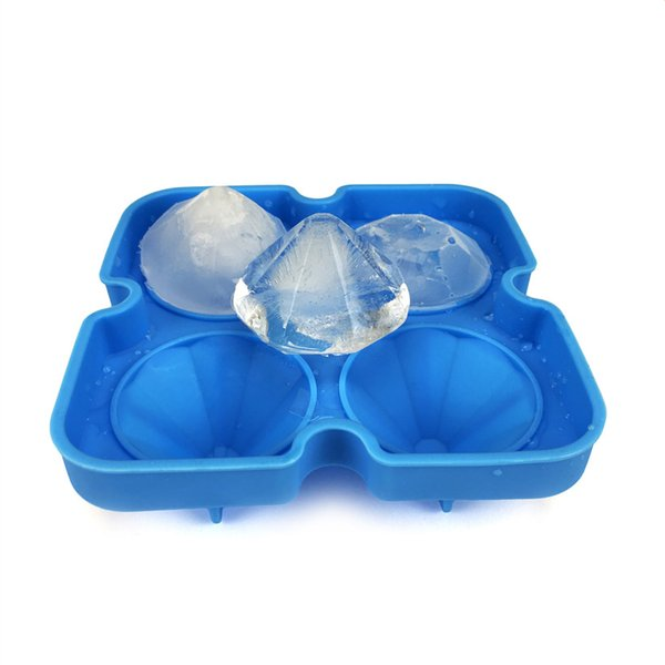 Diamond ice cube mold 3D silicon ice tray whiskey cocktail ball ice cube maker halloween home bar diy tools