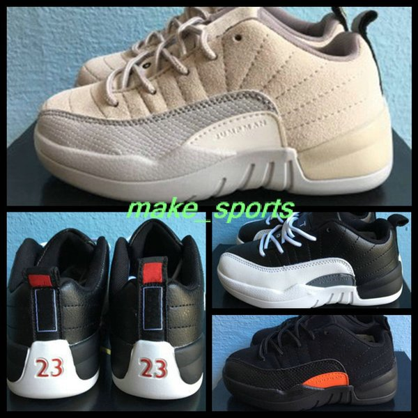 newest collection 81a9f 8c084 Cheap Youth Retro 12 Low Orange Playoffs 23 Kid Girl Boy Basketball Shoes  Sneakers For Kids Retros 12s Training Sneaker Boosts Shoe 28 35 Latest  Shoes ...